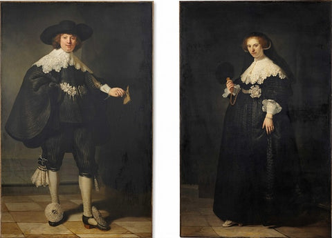 Rembrandt - Pendant portraits of Maerten Soolmans and Oopjen Coppit