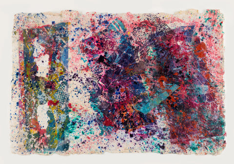 Sam Gilliam Untitled Watercolor & Acrylic
