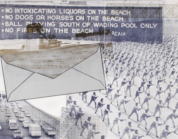 Robert Rauschenberg - Untitled (No Intoxicating Liquors On The Beach)