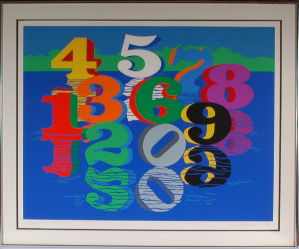Robert Indiana - Number Sculptures Reflected