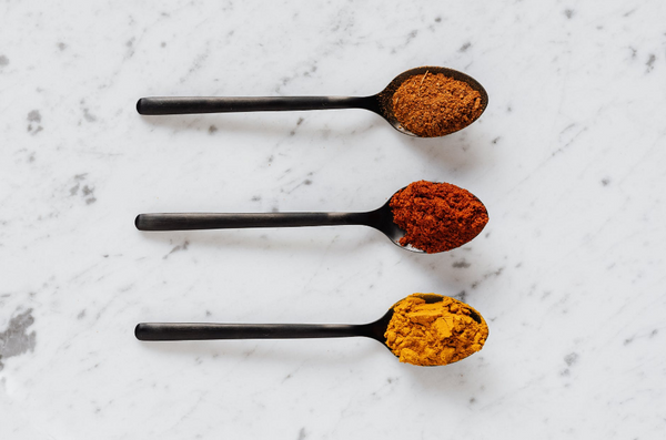 ground up adaptogens on spoons