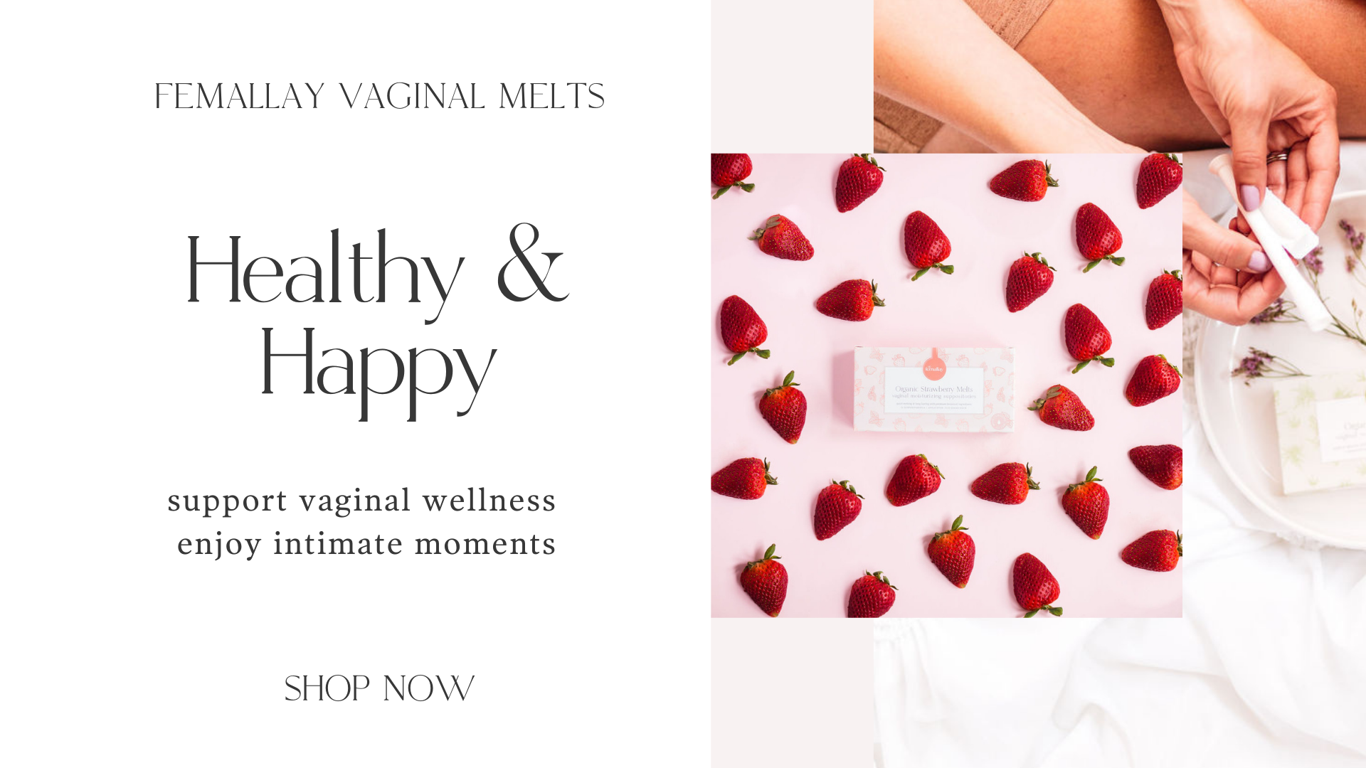 vaginal melts for sexual health and pleasure