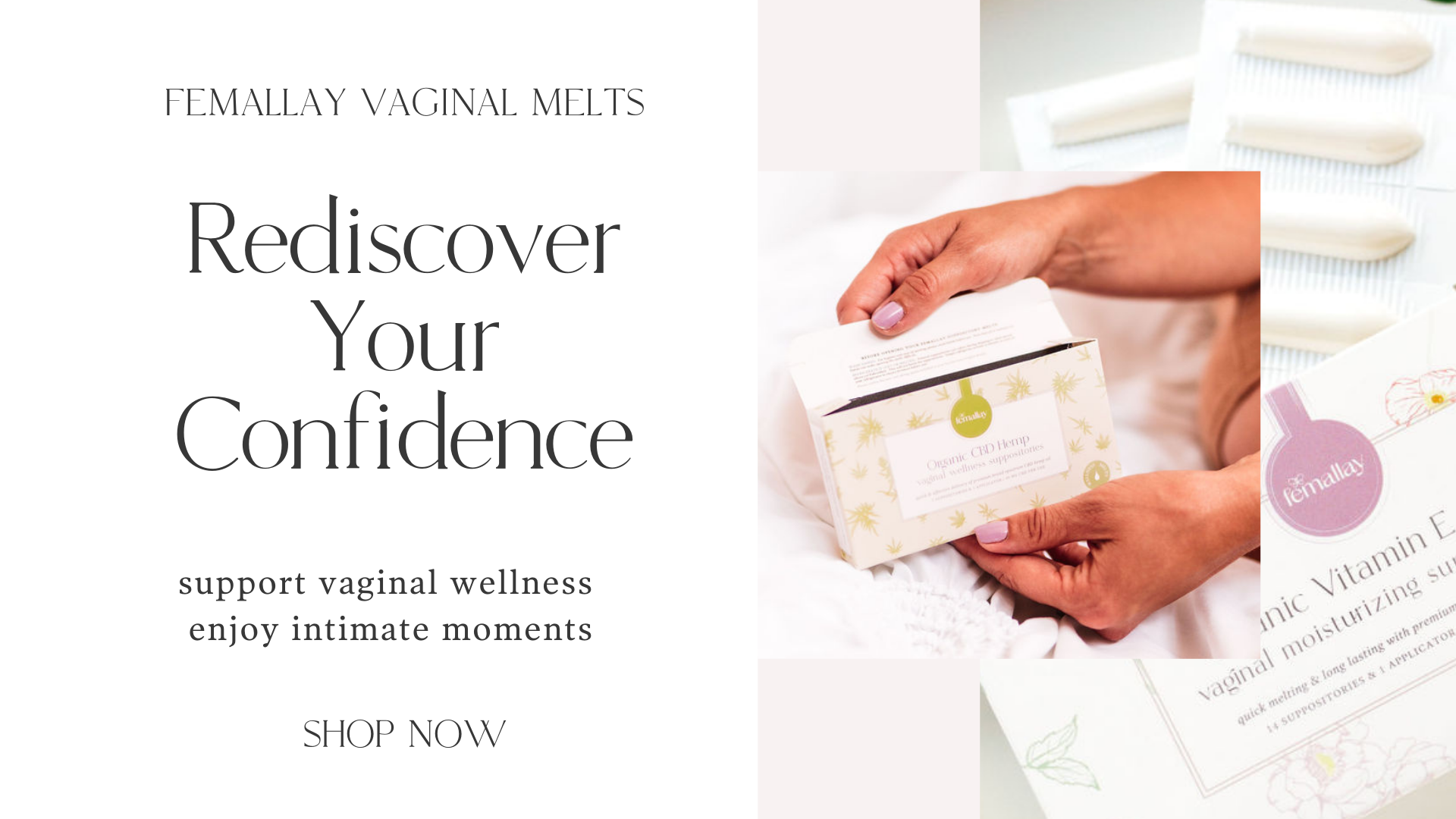 Vaginal suppositories promote sexual wellness in women