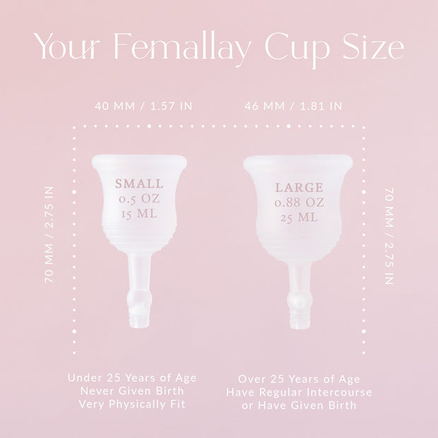 Femallay Easy-Empty™ Menstrual Cup with Valve & Pearl