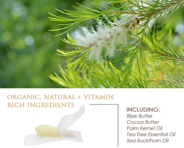 Organic Tea Tree Coconut Health & Hygiene Vaginal Cleansing Suppository Melts with 100% Pure Essential Oils