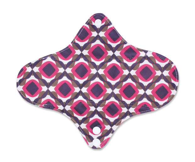 Femallay Bamboo Charcoal Cloth Menstrual Pads - Beautiful Symmetry Pattern