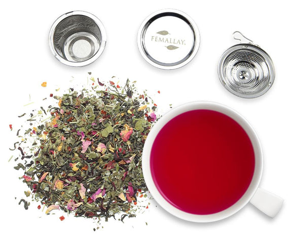 Organic Hibiscus Rose Detox Green Tea - Femallay