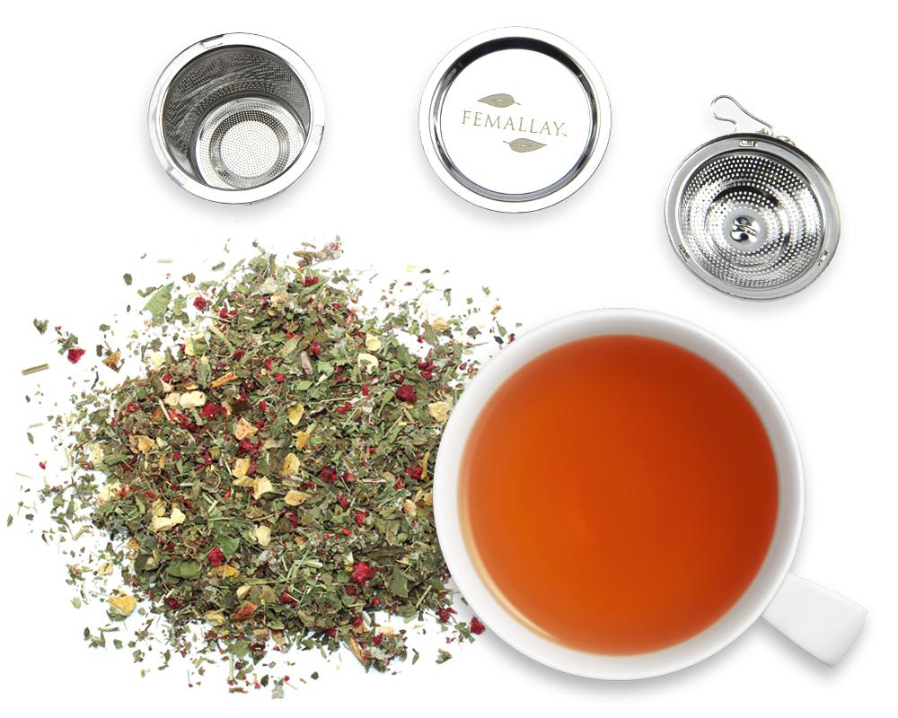 Organic Summer Delight Lemon Raspberry Herbal Tea - Femallay