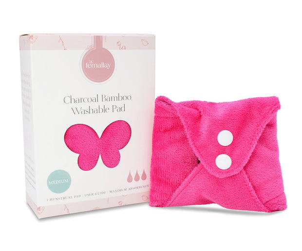 Femallay Bamboo Charcoal Cloth Menstrual Pads - Extra Soft Minky - Colorful