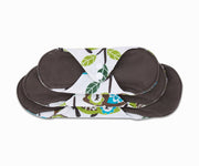Femallay Bamboo Charcoal Cloth Menstrual Pads - Cute Owls Pattern