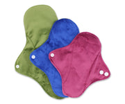 Femallay Bamboo Charcoal Cloth Menstrual Pads - Extra Soft Minky - Earthy