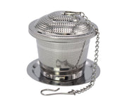 Premium Stainless Steel Loose Leaf Tea Infuser with Tray