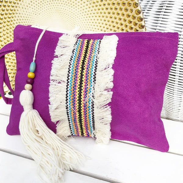 Bohemian Berry Clutch