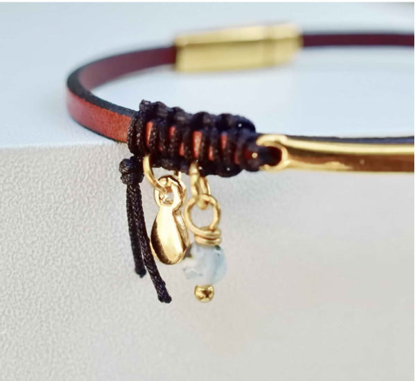 Java Leather Bracelet
