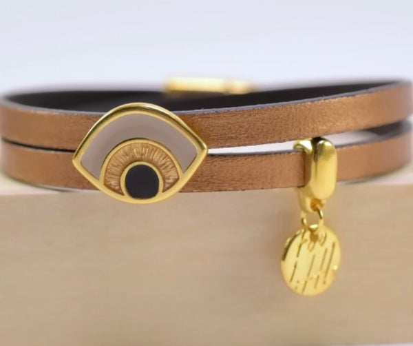 Latte Leather Bracelet