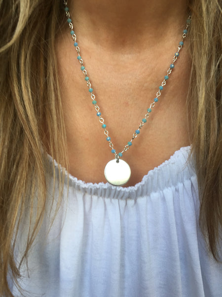 Marianna Necklace (Turquoise beads)