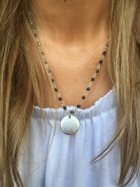 Marianna Necklace (Grey beads)