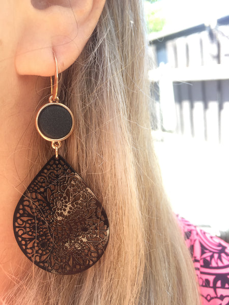 Midnight Black Earrings
