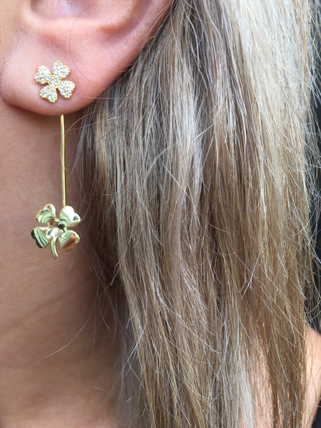 Double Clover Earrings