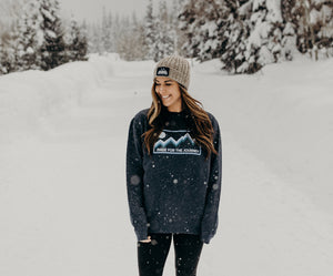 Journey Badge Sweater (Heather Navy)