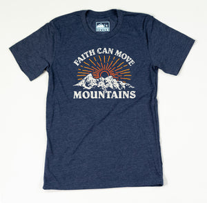 Faith Can Move Mountains Tee ( Navy )