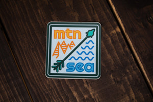 Mountain & Sea Sticker