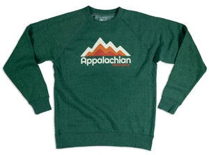 Appalachian Layers Crewneck (Forest Green)