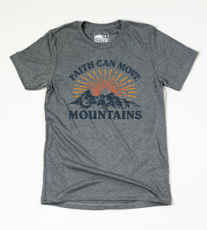 Faith Can Move Mountains Tee ( Grey )