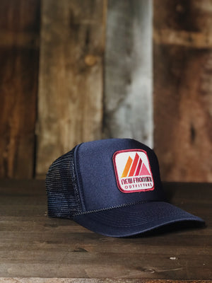 Retro Mountain Trucker (Navy)