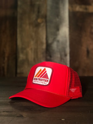 Retro Mountain Trucker (Red)