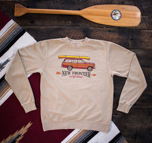 Traveler Wagon Crewneck (Heather Tan)