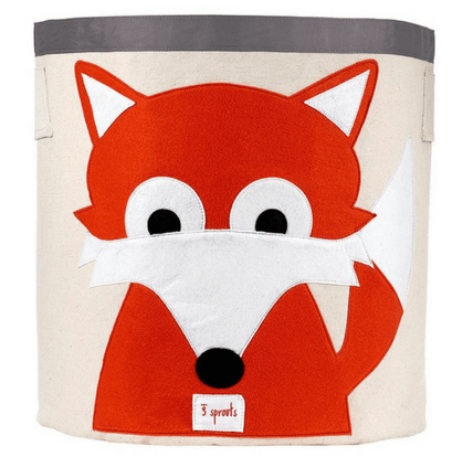 Fox Storage Bin-Watermelon Warehouse