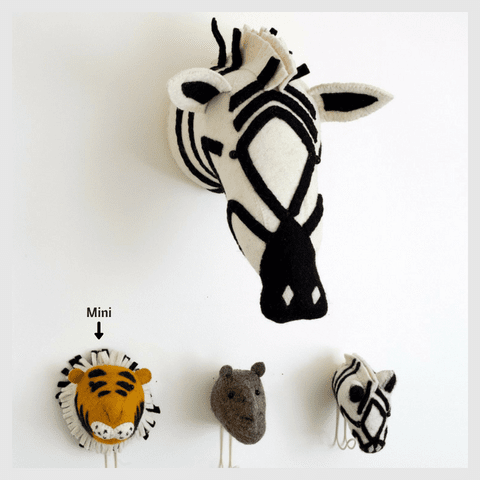 Tiger Head Wall Mount-Watermelon Warehouse