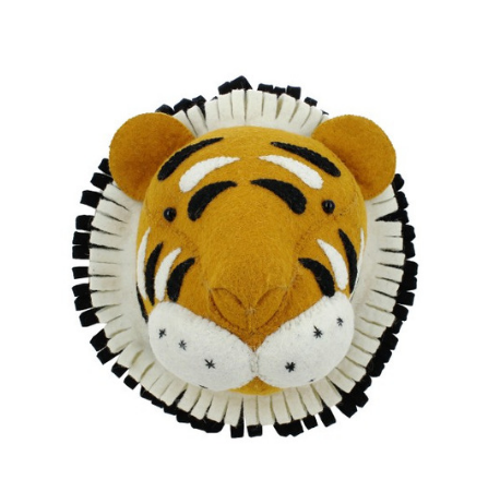 Tiger Head Wall Mount - Mini
