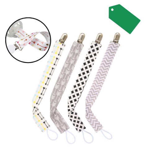 4pcs/set Baby Pacifier Clips