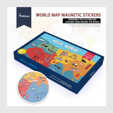 Magnetic World Map-Watermelon Warehouse