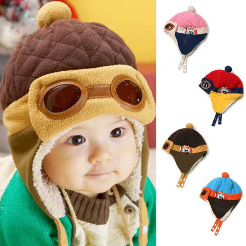 Toddler Pilot Beanie-Watermelon Warehouse