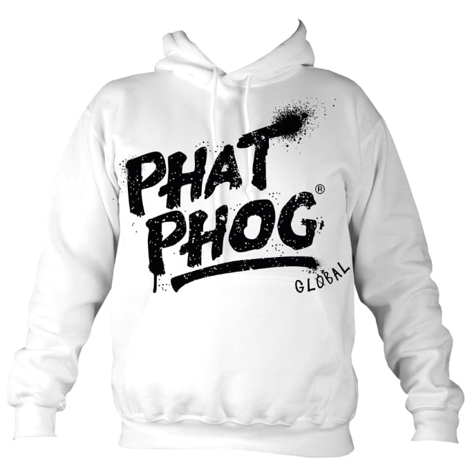 Phatphog Premium Hoodie White - Arctic White / S (36 Inch Chest) - Apparel