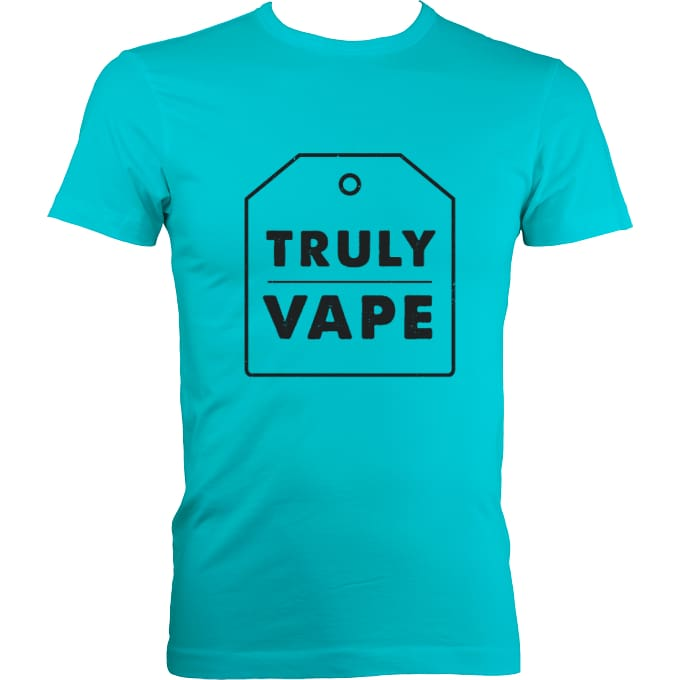 Trulyvape Fitted T-Shirts Unisex - Surf Blue / S (36-38 Inch Chest) - Apparel