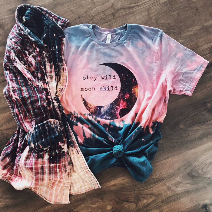 Stay Wild Moon Child Ombré Tee