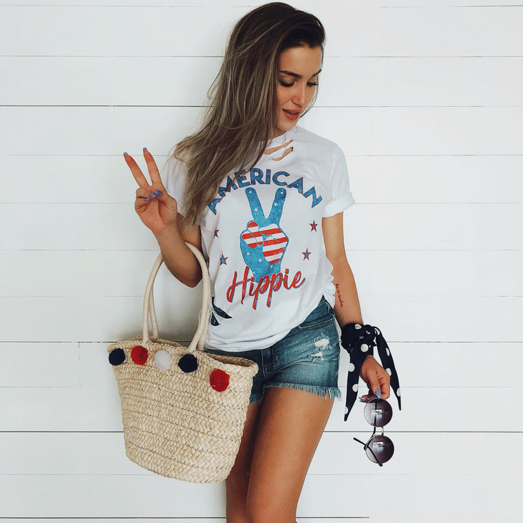 American Hippie Peace Sign Tee