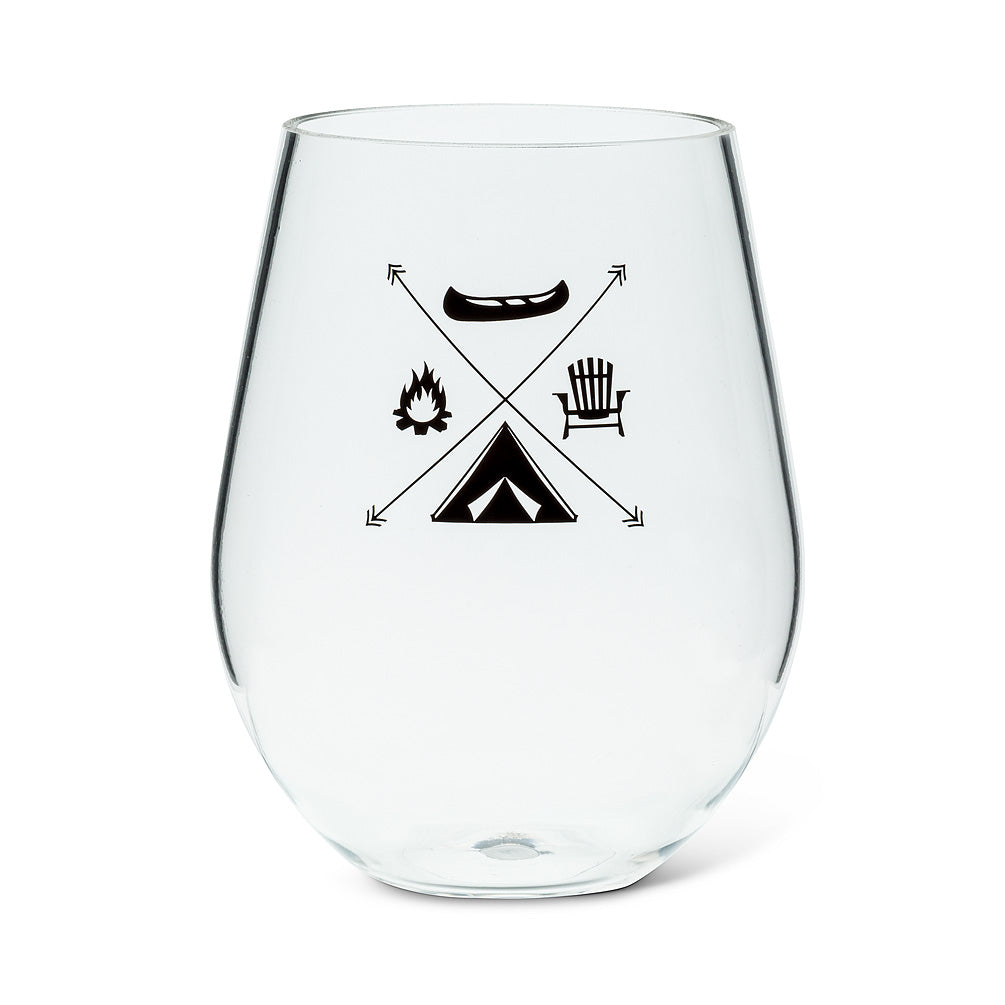 Stemless Goblet with Camp Motif