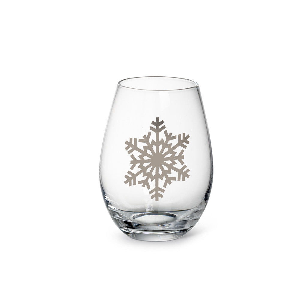 Snowflake Stemless glass