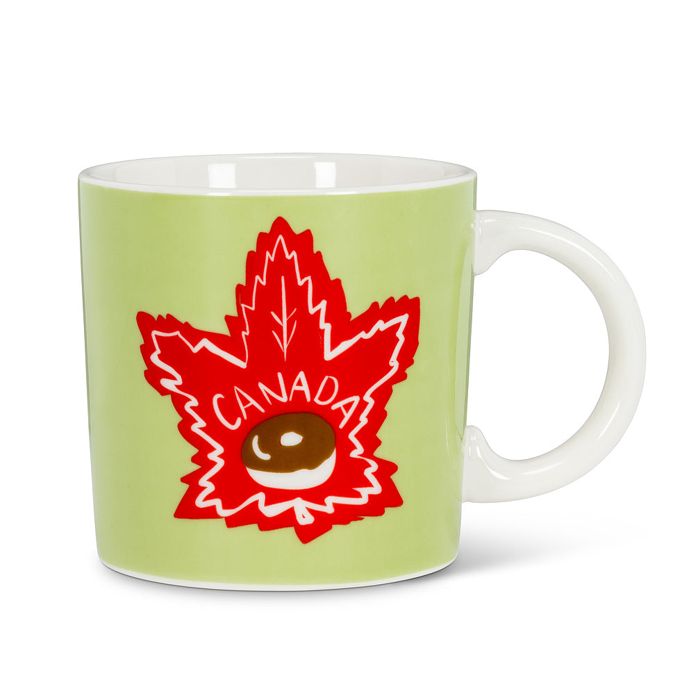 Maple Leaf Doughnut Mug