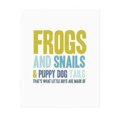 FROGS & SNAILS, ART PRINT