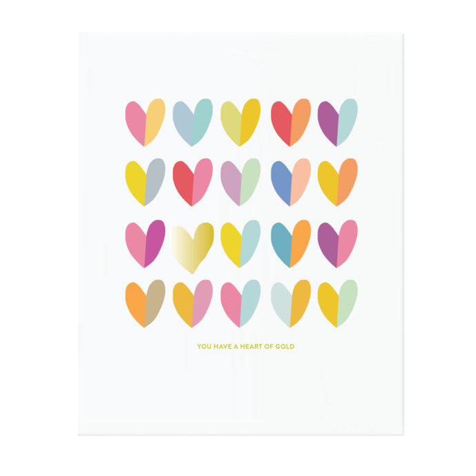 HEART OF GOLD (GOLD FOIL), ART PRINT
