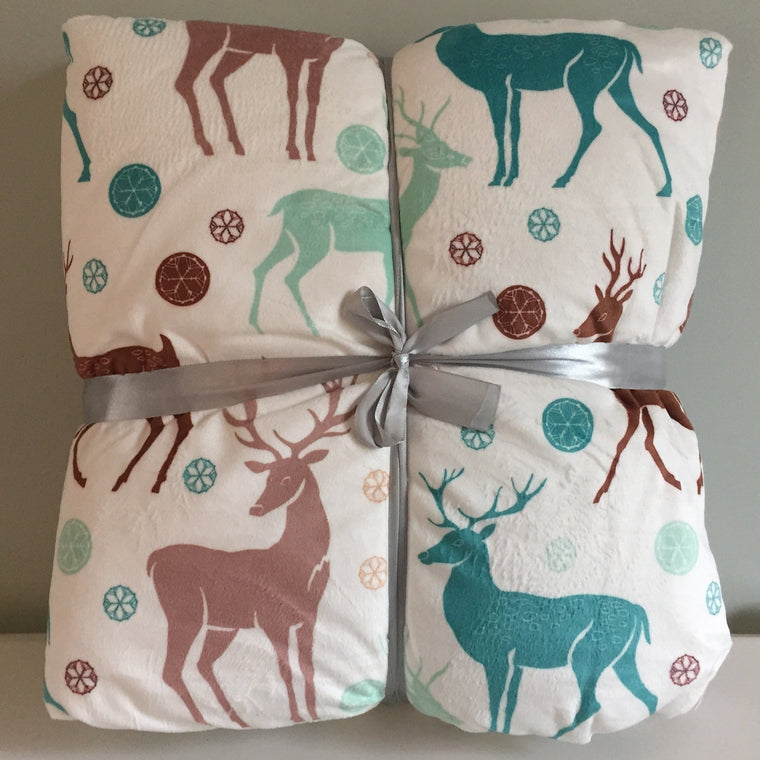 Reindeer Fleece Blanket