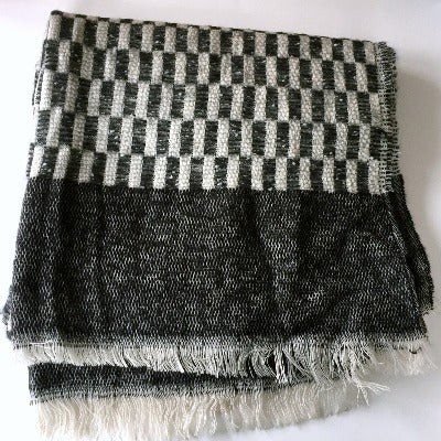 Black and White Long Rectangle Scarf