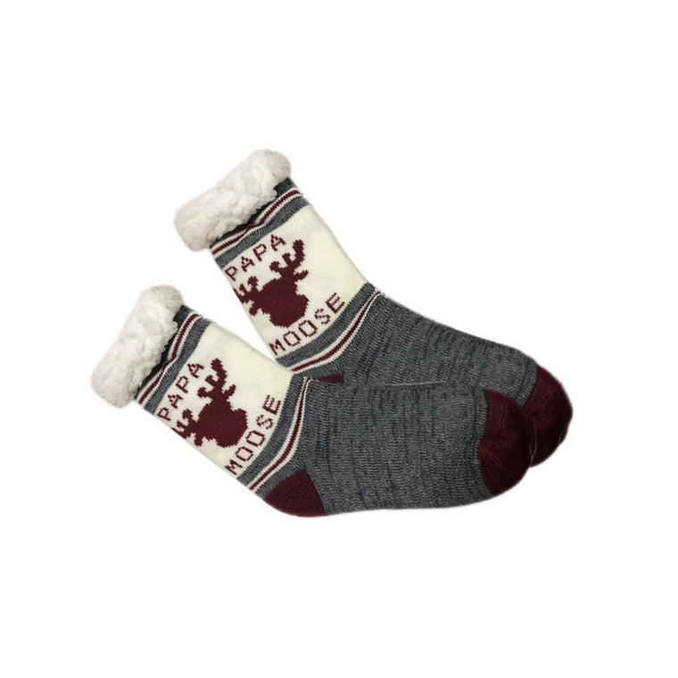 Papa Moose Fleece Socks
