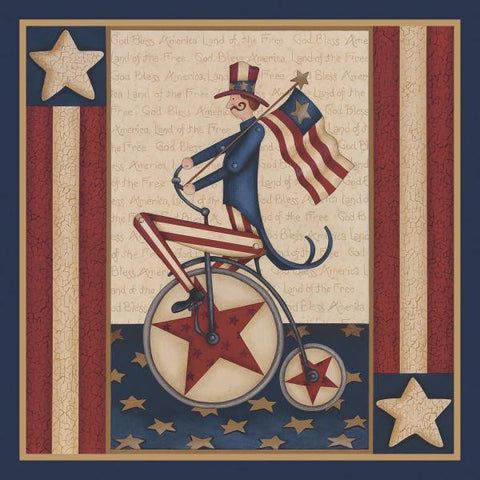 STAR SPANGLED BOY By Leslie Beck-Art Print-Style Home Art